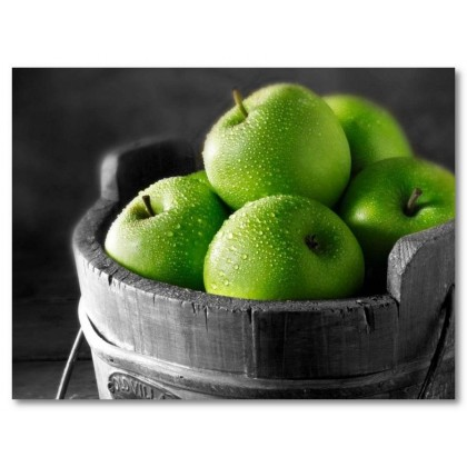 Αφίσα (πράσινος, μήλο, μαύρο, λευκό, άσπρο)